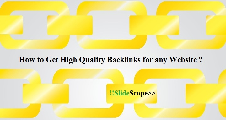 How to get high quality backlinks for your website