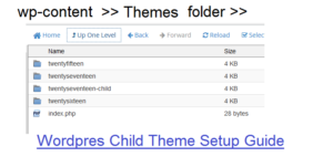 wordpress child theme development