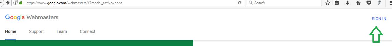 Google Webmaster Setup