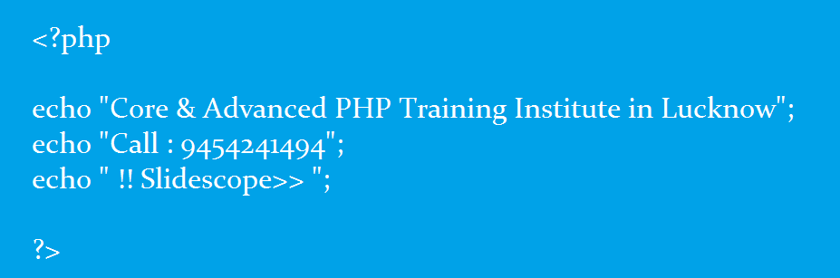 Php training lucknow | Best Core and advanced php