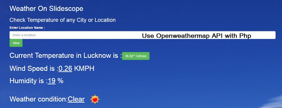 openweathermap api with PHP