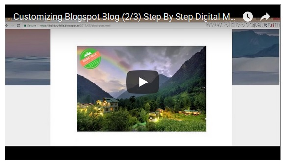 Customize Blogger Blog for SEO