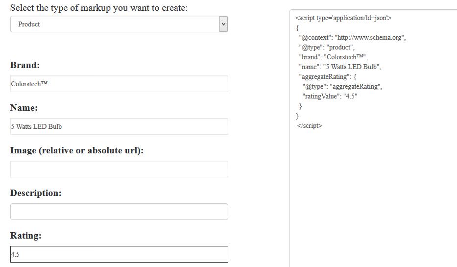 free online SEO tools schema json-ld code generator