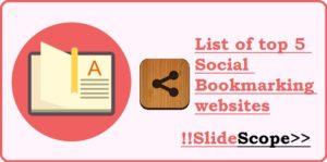 List of top 5 Social Bookmarking websites