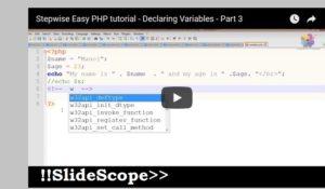Variables in PHP - Core PHP Tutorial Chapter 4