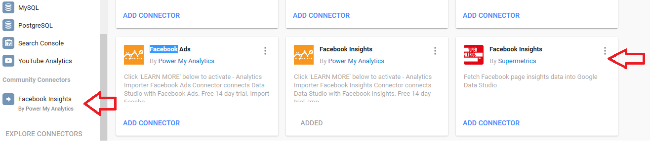 facebook insights in google data cloud