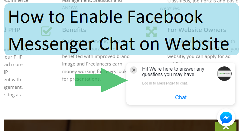 Facebook Messenger Chat on Website