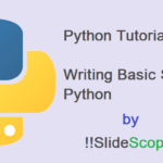 Python Tutorial Part 3 – Basic Syntax of Python
