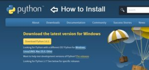 how to install python in windows